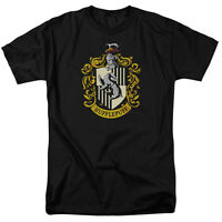 HARRY POTTER HUFFLEPUFF CREST Licensed Adult Men's Graphic Tee Shirt SM-6XL