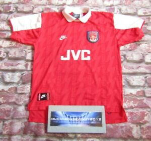 VINTAGE Arsenal Home Football Shirt 1994 1996 large men's Nike gunners jersey