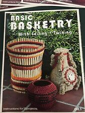Vintage Basic Basketry With Coiling & Twining Instruction Pattern Craft Book