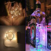 2 M LED Alambre Cobre Cadena Luces Para Botella San Valentín Decoración De Boda