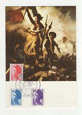 France la liberté tampon à date 1983 timbre sur carte maximum /B5B6