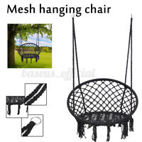 Hanging Cotton Rope Macrame Hammock Chair Swing Outdoor Home Garden Porch USA