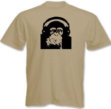 DJ chimpancé ~ Hombre Divertido DJing Música Camiseta