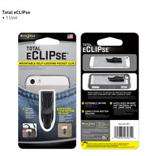 NEW Nite Ize Total eClipse Mountable Self-Locking Pocket Clip Black Cell Phone