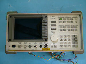 Front panel for 8563E with Agilent  logo late model 12201