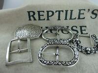 Reptile's House Vintage Schliesse  für Wechselgürtel + Schraubgürtel neu RHV-S4