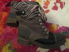 RIEKER mid-length boots, grey, black, beige, Size 6/39