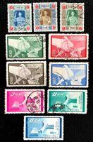China Taiwan SC#1124-1126, 1209-1212. 1205//1208 Present Chiang Kai-shek Used