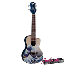 Luna LUUKEGWC Great Wave Concert Ukulele with Cutaway and Gig Bag