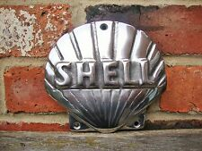 Shell Sign Shell logo Cast Sign POLISHED Oil Petrol Vintage Garage sign VAC110