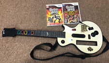 Wii Guitar Hero Gibson Les Paul Nintendo Controller Wireless 2 Games Bundle