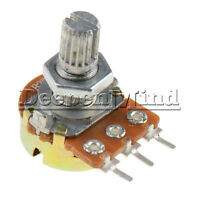 2Pcs 3Pin WH148 Type B1K Ohm Linear Taper Rotary Potentiometer Panel Pot