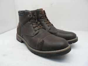 Unbranded Men's Mid-Cut Leather Causal Ankle Boots Brown Size 12M