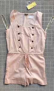 💜 BNWT BARDOT RRP$80 Sleeveless Playsuit Pale Pink Size 10 Buy7=FreePost L877