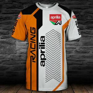 Aprilia-RSV4-RR-RF-Factory/Speed/TOP Men's US 3D T-Shirt/BEST GIFT 9/Size S-5XL