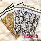 20 Designer Printed Poly Mailers 10X13 Shipping Envelopes Bags Snake Cheetah