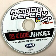 Action Replay PSP - 1000, 2000, 3000, PSP Go Game Enhancer Disc Only Free Ship