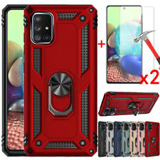 For Samsung Galaxy A51 A71 5G 4G Case Shockproof Stand Hard Cover+Tempered Glass