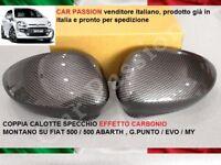 COPPIA CALOTTE SPECCHIO FIAT GRANDE PUNTO EVO MY ABARTH EFFETTO CARBONIO