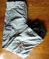 "BURTON Size XL Khaki Cargo Snowboard Pants 38"" Waist Clean Snow Pants Tan"
