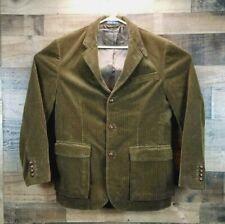 VTG Polo Ralph Lauren Mens Medium Brown Corduroy Thick Blazer Jacket Coat EUC