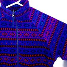 VTG HEAD SKIWEAR L (oversized) Aztec Southwestern Printed Fleece Full Zip Jacket