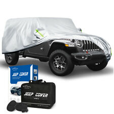 6 Layers Heavy Duty Car Cover Snow Rain Uv Protection For Jeep Wrangler 24 Door Fits Jeep