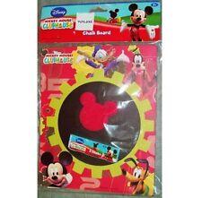 Disney MICKEY MOUSE Chalkboard Sponge & Chalk Marker Message Note Sign CLUBHOUSE