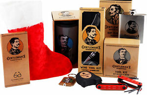 Mens Pre Filled Christmas Stocking With 8 Gentleman's Essential Gifts