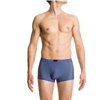 NEUF Boxer HOM M/4 bleu pétrole gris logo noir caleçon slip sous vêtement mode