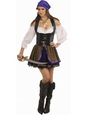 Womens Large 10-16 Black Lace-up Pirate or Vampire Costume Corset