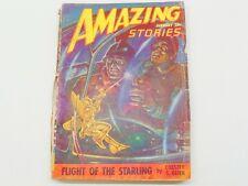January 1948 Sci-Fi AMAZING STORIES PULP MAGAZINE