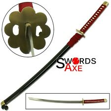 Ninja Sword Japanese Anime Bleach Samurai Katana Steel Replica Cosplay Manga