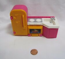 New FISHER PRICE My First Dollhouse KITCHEN FRIDGE STOVE OVEN SINK Hot Pink Rare