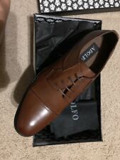 Adolfo Mens Shoes Oxford Dress Casual Dark Brown Platform Sole S/OSCAR-3 Size 13