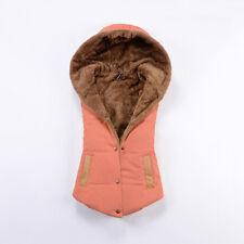 Winter Womens Thick Down Cotton Jacket Sleeveless Coat Hooded Vest Waistcoat