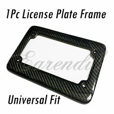 Bike License Plate Frame 1x Real Carbon Fiber Black Rear #Pt8 Motorcycle Scooter