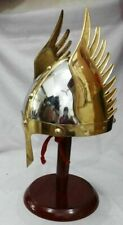 FUNCTIONAL COSTUME Medieval Knight Viking Armor Winged Norman Helmet FREE STAND
