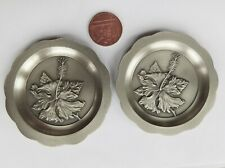 2 Malaysian Airline pin trays hibiscus flower design Royal Selangor Pewter 8 cm