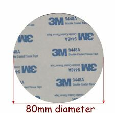 2 pads x  3M EVA BLACK Foam Tape, 80mm Diameter x 2mm Thick, Round Double Sided