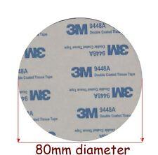 2 pads x  3M EVA BLACK Foam Tape, 80mm Diameter x 2mm Thick, Round Double Sided