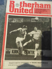Rotherham United v Colchester United, 1980-81