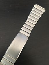 Vintage Stainless Steel Pewter Color Watch Bracelet 17mm