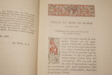 LA TRES SAINTE VIERGE D'APRES BOSSUET ROUVIER 1900 ENLUMINURES MOIS DE MARIE