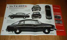 ★★1967 TATRA T2-603 ORIGINAL IMP BROCHURE SPECS INFO T2603 67 TATRAPLAN★★