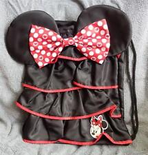 Disney Minnie Mouse Ruffle Dress Backpack/Cinch/Sling Bag New With Tags