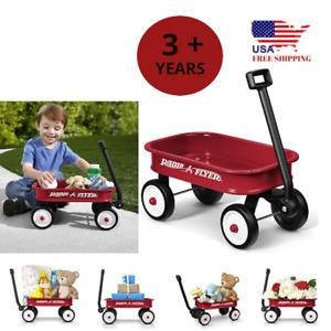 Flyer Wagon Toy Kids Car Little Red Children Wheel Pull Steel Outdoor Home 3+