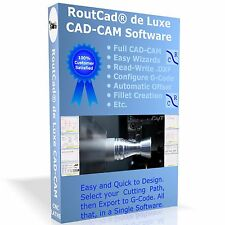 CAD CAM Software RoutCad to Generate G-Code for Mach 3, EMC2 CNC Lathe (USB Key)