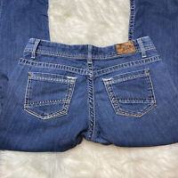 Women's BKE Buckle Jeans Payton Size 31R Boot Cut Mid Rise Med Wash Thick Stitch