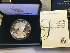 2020 S American Eagle One Ounce SILVER PROOF Coin San Francisco 1oz Box COA 20EM